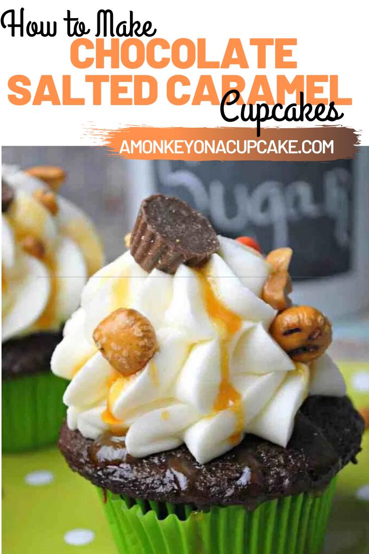 Sinful Chocolate Salted Caramel Cupcakes