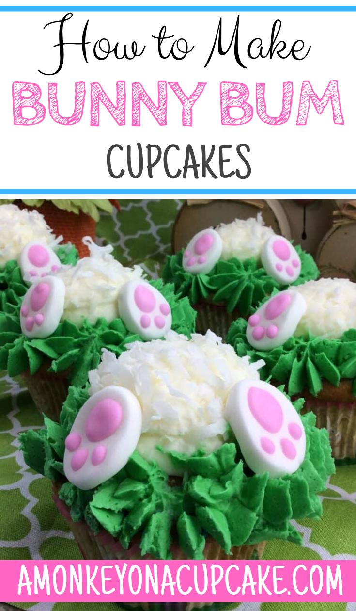 Super Cute Bunny Bum Cupcakes