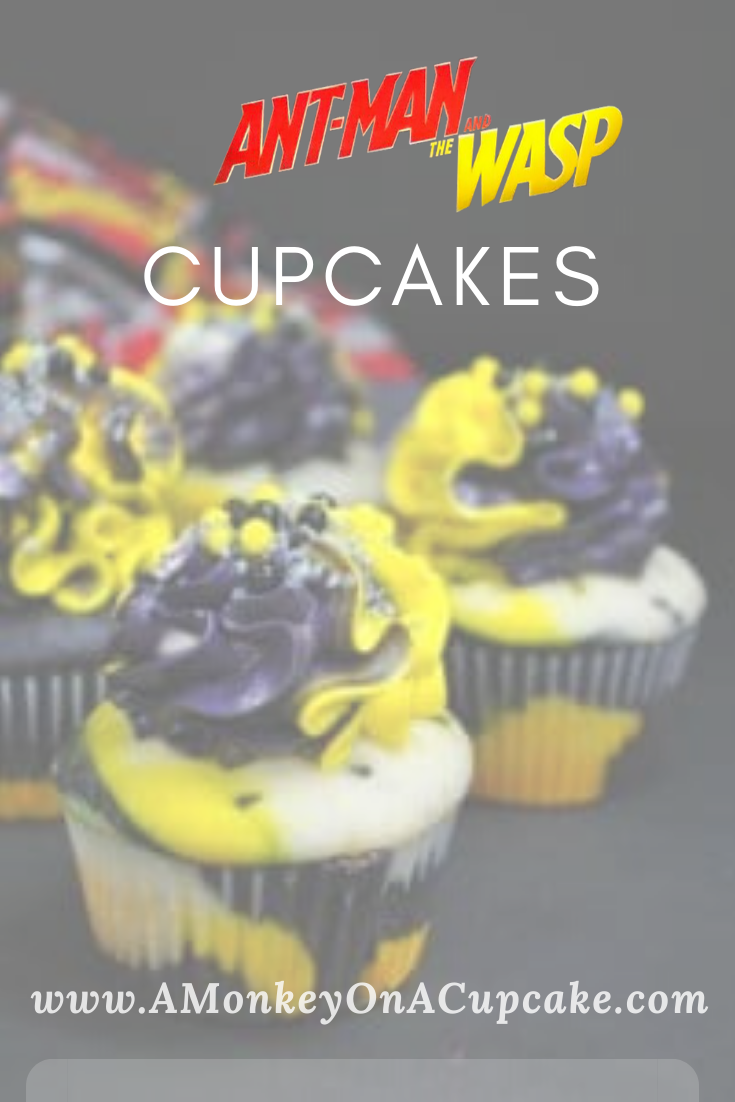 Make a Wasp or Ant Man Cupcakes Batch to Have a Movie Night!