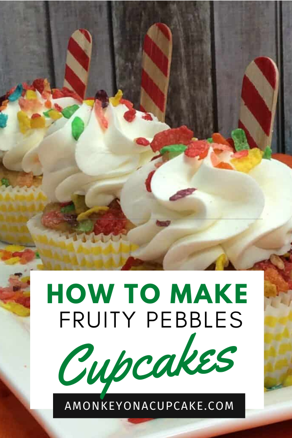 Fruity Pebbles Cupcake – a Cereal Treat
