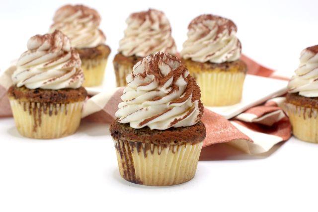 cupcakes de tiramisu finished cupcakes ready to serve