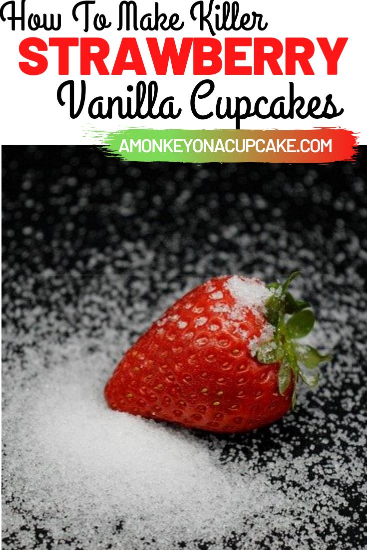 Strawberry Vanilla Cupcakes Recipe
