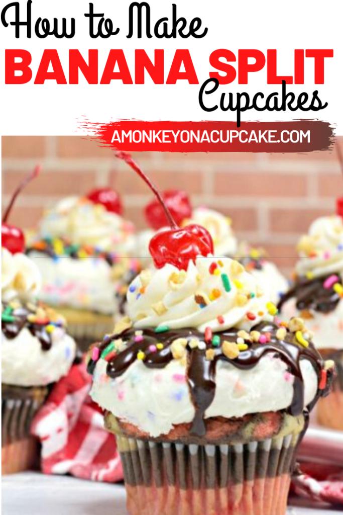 banana split cupcakes article cover image