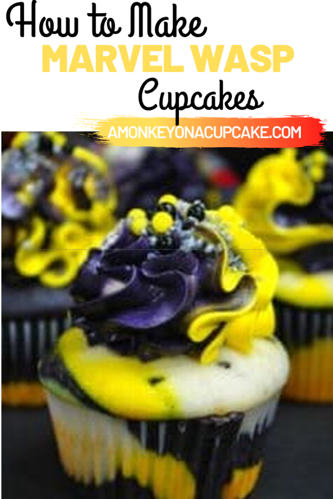 marvel wasp cupcake recipe article cover image