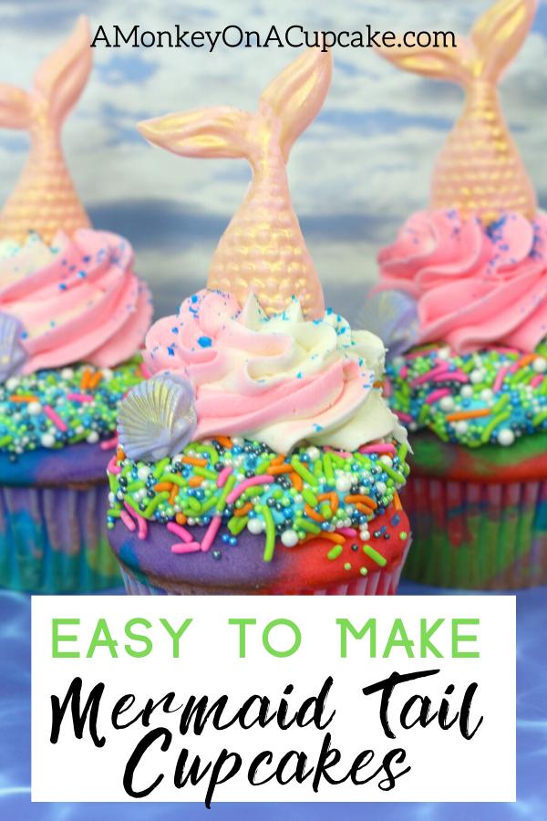 mermaid cupcakes article cover image of mermaid tail cupcakes