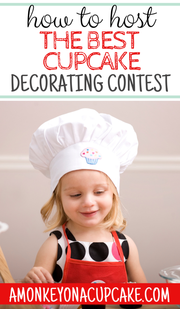 How to Host the Best Cupcake Decorating Contest kid decorating a cupcake for a family cupcake decorating contest