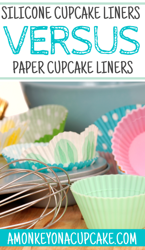 Silicone Cupcake Liners Versus Paper Cupcake Liners article cover image of both options