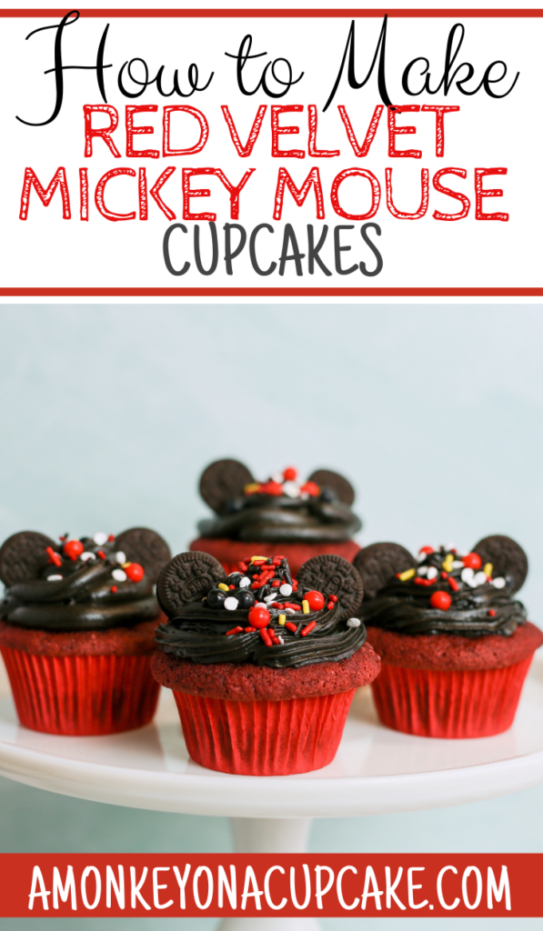 The Most Fabulous Red Velvet Mickey Mouse Cupcakes