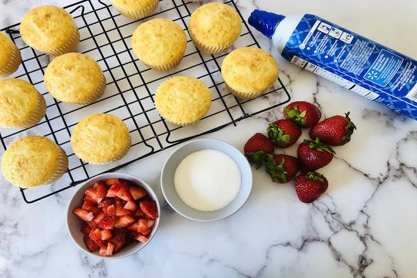 Strawberry Shortcake Cupcakes filling