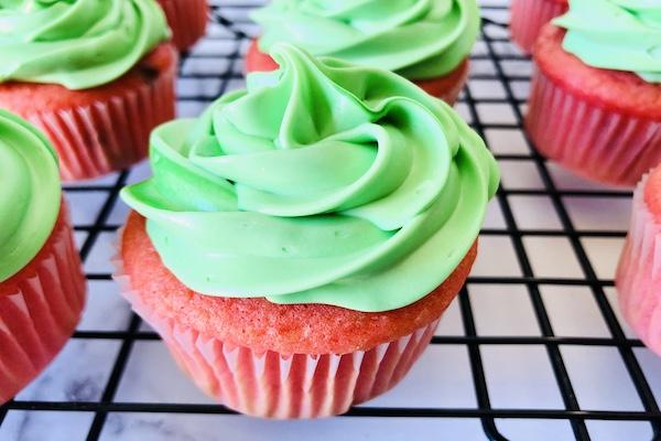 Homemade Watermelon cupcakes