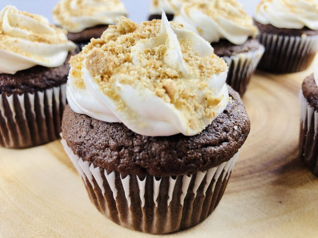 S'mores cupcakes quick and easy