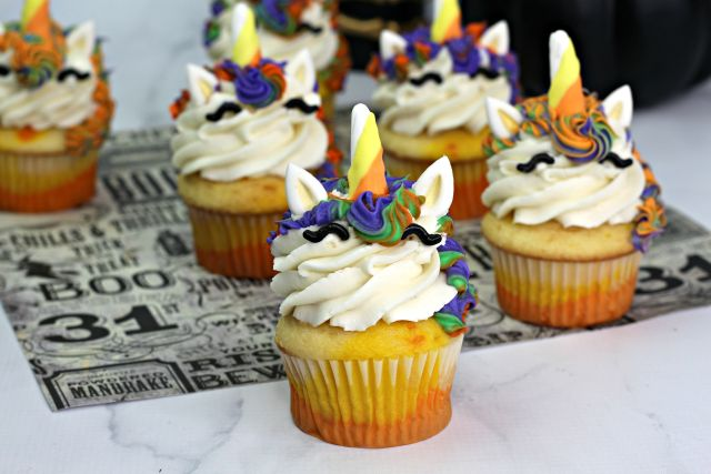 How to Make Magical Halloween Unicorn Cupcakes