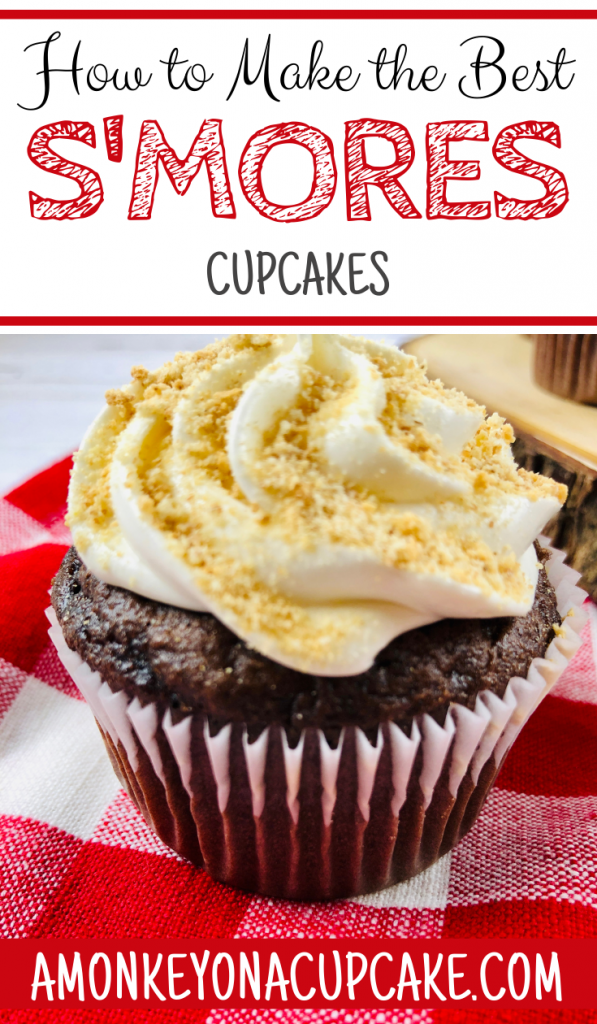 S'mores cupcakes with box cake mix