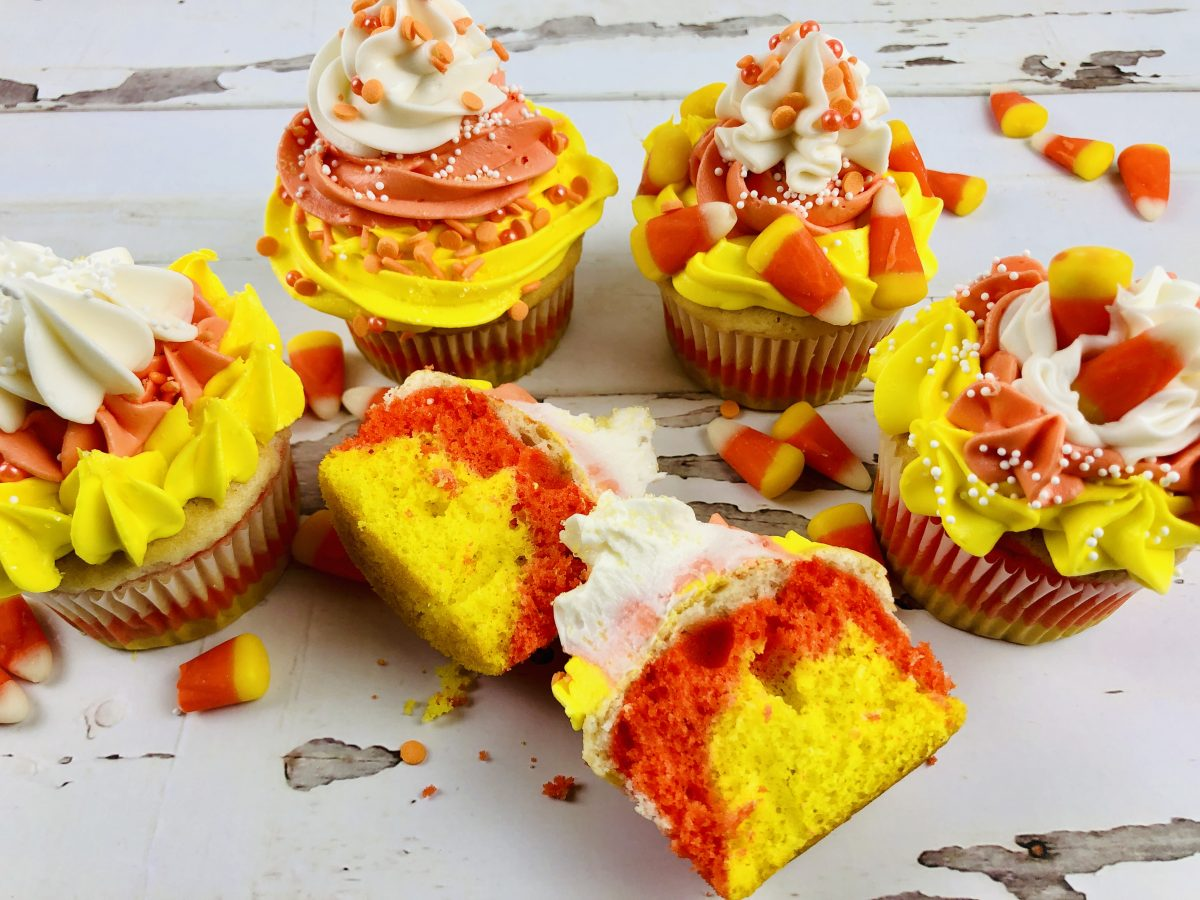 How to Make the Best Candy Corn Cupcakes