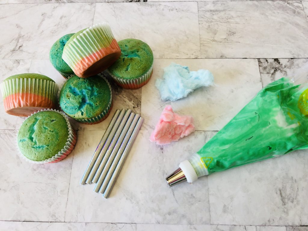 Cotton Candy Cupcakes Ingredients: