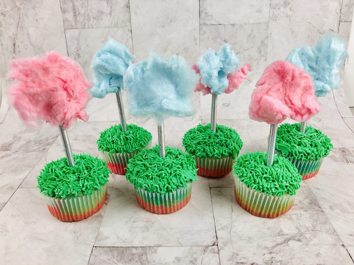 How to Make Dr. Seuss Inspired Cotton Candy Cupcakes