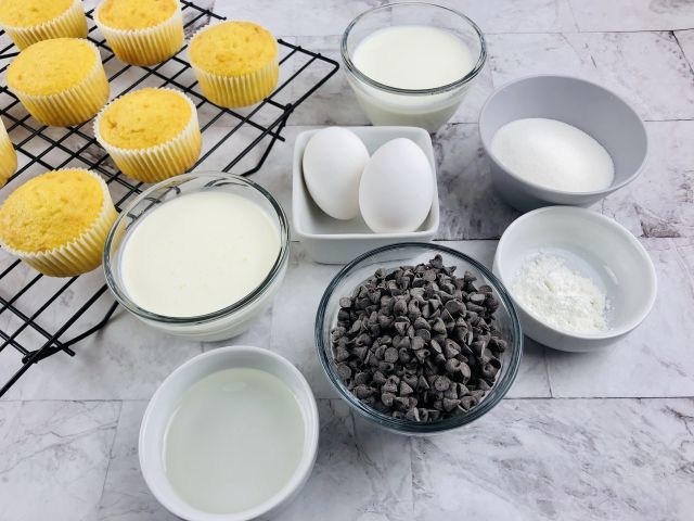 Boston Cream Pie Cupcakes ingredients