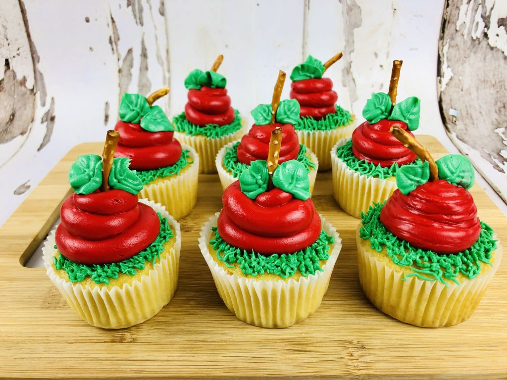How To Make Apple Shaped Cupcakes