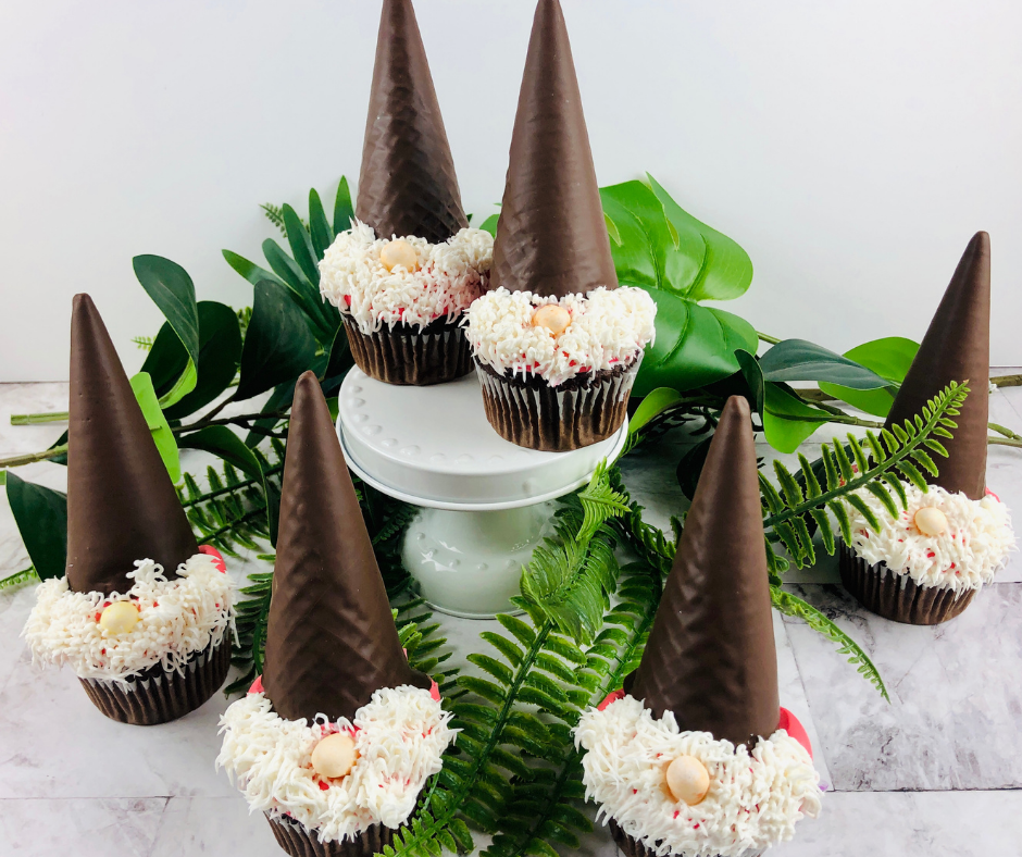 How to Make Gnome Cupcakes They Will Adore