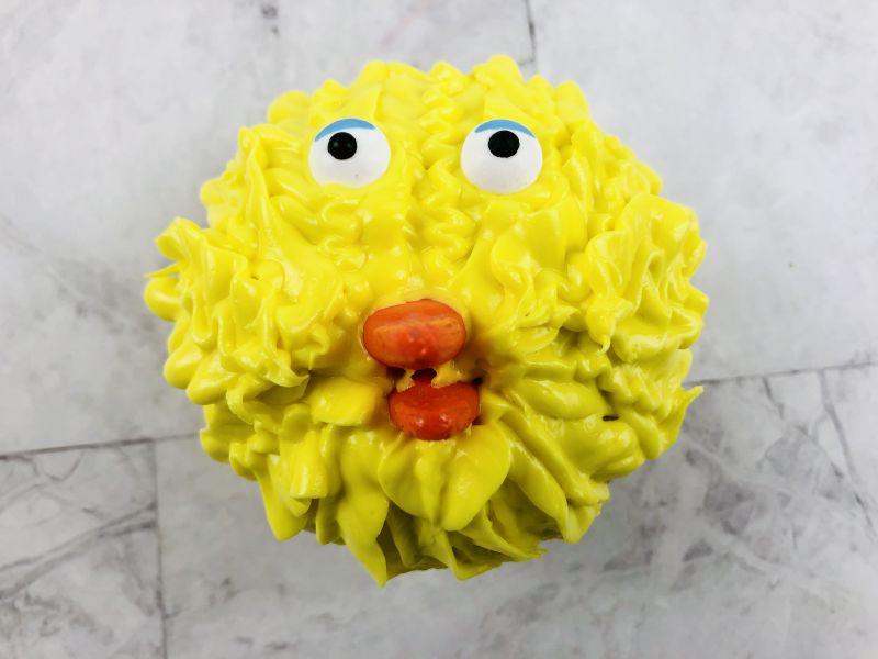 how to make big bird cupcakes