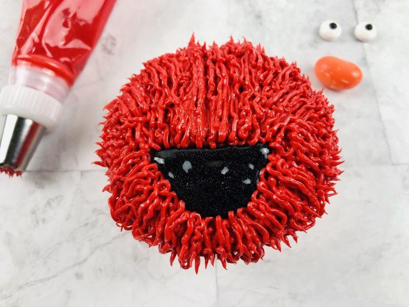 sy Elmo Cupcakes recipe